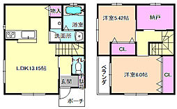 [テラスハウス] 大阪府枚方市西牧野3丁目 の賃貸【/】の間取り