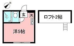 STUDIO小田急相模原[201号室]の間取り