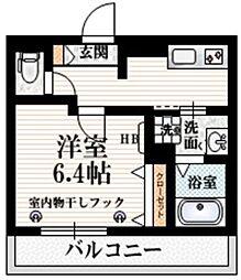 (仮称)大京町メゾン 3階1Kの間取り