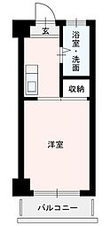 大橋中央ビル[8階]の間取り