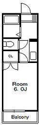 ローズビラ2[2階]の間取り