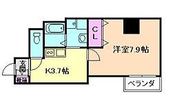 みおつくし都島[1階]の間取り