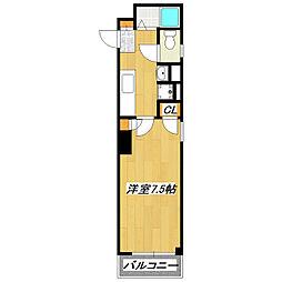 エフレジデンス16番館[3階]の間取り