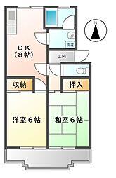 愛知県豊田市上野町3丁目の賃貸マンションの間取り