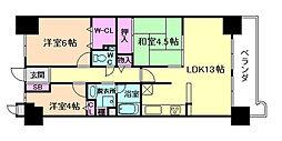 ライオンズマンション北梅田[14階]の間取り