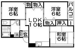 ファミールKII[3階]の間取り