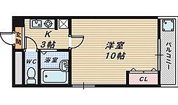 メゾンフルール[1階]の間取り
