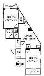 第三喜作ビル[2階]の間取り