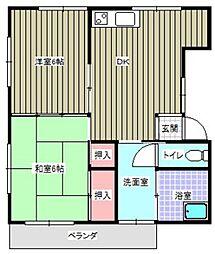 第一朝日アパート[203号室]の間取り