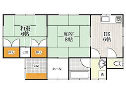 [一戸建] 福岡県福岡市中央区清川2丁目 の賃貸【/】の間取り
