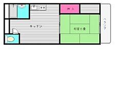 サンハイツ三嶋[203号室]の間取り