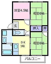 大阪府堺市中区深井東町の賃貸マンションの間取り