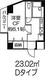 東京都渋谷区初台2丁目の賃貸マンションの間取り