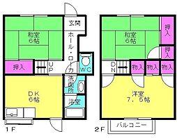 2加古川ヤングハイツ[1階]の間取り