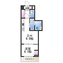 Osaka Metro御堂筋線 あびこ駅 徒歩6分の賃貸マンション 12階1DKの間取り