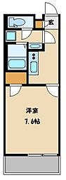 JR京浜東北・根岸線 大宮駅 徒歩24分の賃貸マンション 2階1Kの間取り