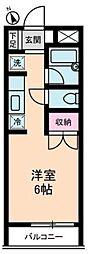 神奈川県横浜市青葉区つつじが丘の賃貸アパートの間取り