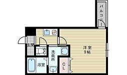 大阪府大阪市東淀川区下新庄2丁目の賃貸アパートの間取り