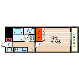 滋賀県彦根市西今町の賃貸マンションの間取り
