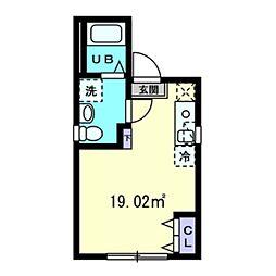 グランメゾン上野広小路 2階ワンルームの間取り