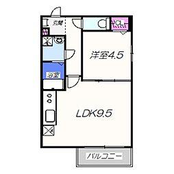 Soleil北旅籠 ソレイユキタハタゴ 3階1LDKの間取り
