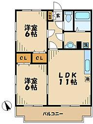 神奈川県川崎市麻生区白鳥4丁目の賃貸マンションの間取り