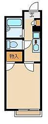 西武新宿線 東村山駅 徒歩13分の賃貸アパート 1階1Kの間取り