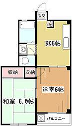 小川レジデンス[3階]の間取り