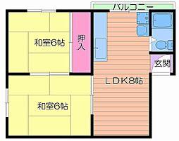 さぬきマンション高倉[4階]の間取り