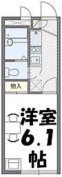 東武伊勢崎線 せんげん台駅 徒歩25分の賃貸アパート 2階1Kの間取り