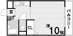 シアブルー[1階]の間取り