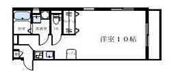 アロッジオ小作台 3階ワンルームの間取り