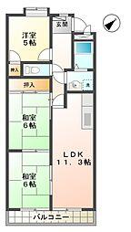 エトワール オリオン[4階]の間取り