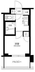 シティタワー武蔵小山 レジデンス棟 6階1Kの間取り
