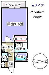 松屋ビル[302号室]の間取り