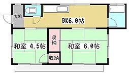 [一戸建] 東京都東村山市廻田町3丁目 の賃貸【/】の間取り