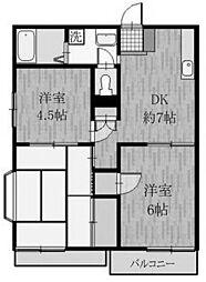サングリーンハイツ[2階]の間取り