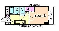 プライム蛍池[3階]の間取り