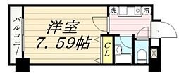 サンコート中島[413号室]の間取り