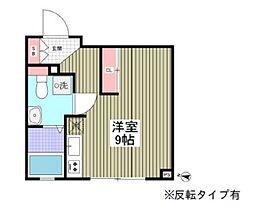 都営三田線 本蓮沼駅 徒歩13分の賃貸マンション 1階ワンルームの間取り