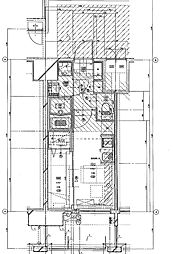 福岡市地下鉄七隈線 渡辺通駅 徒歩5分の賃貸マンション 11階1DKの間取り