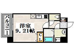 JR鹿児島本線 吉塚駅 徒歩6分の賃貸マンション 3階ワンルームの間取り