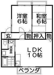 ソレール桜丘[2階]の間取り