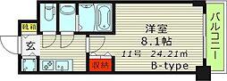 S-RESIDENCE都島(エスレジデンス都島) 3階1Kの間取り