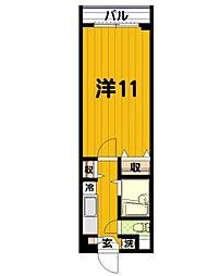 エスポワール蒲田第3レッツビル[2階]の間取り