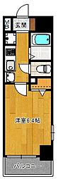 エステムコート博多祇園ツインタワーファーストステージ[906号室]の間取り