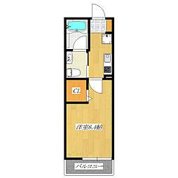 エルスタンザ舟渡[2階]の間取り