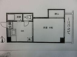 谷川ビル[203号室]の間取り