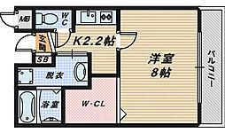 大阪府堺市西区浜寺船尾町西1丁の賃貸アパートの間取り