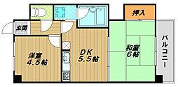 フェイス神戸[2階]の間取り